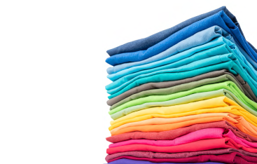 A colourful pile of laundry.