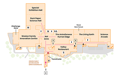 A map of the Science Centre, Level 6.