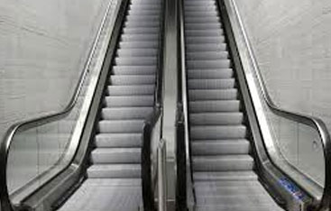A set of escalators.