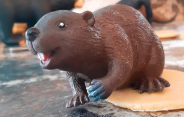 A toy beaver.